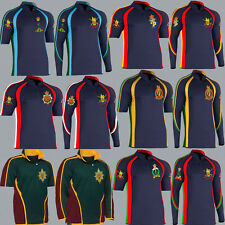 UNITS I TO N EMBROIDERED KOOGA STYLE LONG / SHORT SLEEVE 3/4 COLOUR RUGBY SHIRT