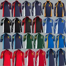 UNITS N - Q EMBROIDERED KOOGA STYLE LONG / SHORT SLEEVE 3/4 COLOUR RUGBY SHIRT