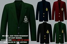 UNITS 1- 21 EMBROIDERED ARMY ROYAL NAVY BLAZER JACKET BADGE + REGIMENTAL BUTTONS