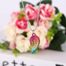"3PCS Friendship ""Best Friends Forever"" Heart Pendant Necklaces kids Christmas KG"