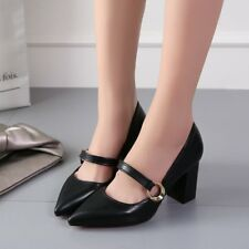 Korean Style All-match Girls High-heel Shoes Casual Chunky Heels Lady Sandals PL
