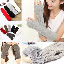 Arm Warmer 1 Pair Fashion Women Knit Winter  Long Gloves Gloves Fingerless