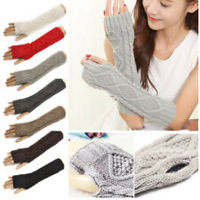 Warmer Fingerless  Women Long Gloves Knit Arm Fashion Gloves 1 Pair 15 Colors