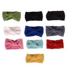 Lovely Kids Girl Baby Toddler Crochet Hair Band Bow Headband Accessories Winter