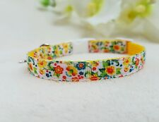 """Cutie Pie Yellow Flower Dog/Puppy/Chihuahua Collar,Sizes 6-8"""" or 8""""-10"""""""