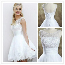New White/Ivory lace Wedding Dress Bridal Gown Ball stock Size 6 8 10 12 14 16