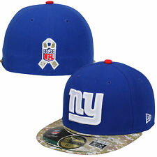 New York Giants New Era 59FIFTY NFL Salute to Service Fitted Hat Cap - Blue/Camo