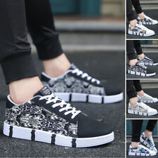 Mens Fashion Casual Striped Lace Up Comfy Sport Running Sneakers Trainers Shoes