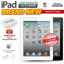 New&Sealed APPLE iPad 3rd Gen Black White 16 32 64GB Retina PC Tablet WiFi Only