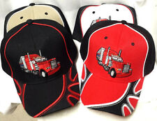 Semi Truck , Embroidered Adjustable Adult Ball Cap Hat , NEW, FREE SHIPPING