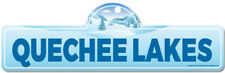 Quechee Lakes Street Sign   Snowboarder, Décor for Ski Lodge, Cabin, House
