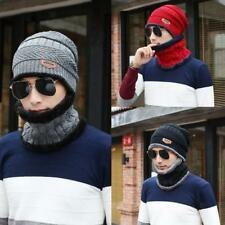 Fashion 2 Sided Men Women Knit Beanie Winter Hat Ski Cap Couple Hat + Scarf