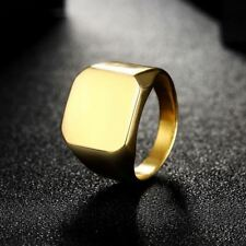 Square Shape Stainless Steel Metal 8mm Surface Fashionable Ring For Men