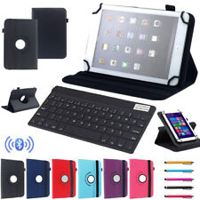 "Fr ASUS 7"" 10.1"" Tablet Bluetooth Keyboard Universal 360° Rotating Leather Cover"