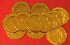 1900-1910 OLD PENNY 24ct Gold Plated + C.O.A Plus Germany Commander Erwin-Rommel
