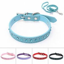 Adjustable Small Pet Dog PU Leather Collar Puppy Cat Buckle Neck Strap Necklace