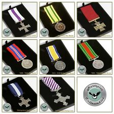 British Military Medal Full Size Replica In Presentation Gift Box WWI WWII