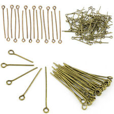 100Pcs/Set Gold Head Eye Ball Style Pin Needles Jewelry Findings DIY Craft 9F