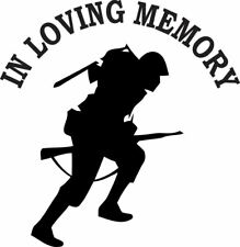 In Loving Memory Carrying Rifle Military Vinyl Decal