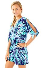 ONLY ONE NWT LILLY PULITZER BRYCE ROMPER Bright Navy Crash The Bash XL