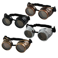 Vintage Victorian Steampunk Goggles Glass Welding Cyber Punk Gothic Cosplay Chic