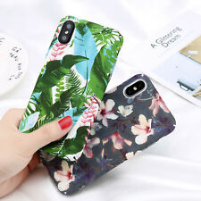 Pattern Shockproof Hard Flower Ultra Thin Case Cover For iPhone X 8 7 Plus 5 6S