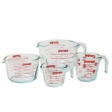 Pyrex Measuring Glass Cup Set Of 4 Piece Microwavable Stackable Cooking Safe