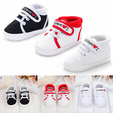 AU Infant Baby Boy Girl Soft Sole Crib Shoes Canvas Sneaker Newborn to 18 Months