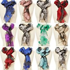 Scarf Silk Wrap Floral Paisley Women Stoles Shawl Soft Silk Fashion Scarfs Gifts