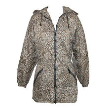 New ShedRain Women's Packable Fashion Leopard Print Anorak Rain Jacket