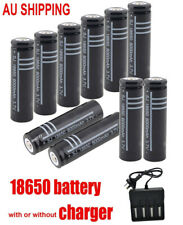 18650 Battery  Rechargeable Batteries 3.7V Li-lion / Charger AU plug