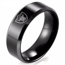 Oakland Raiders  Football Tungsten-Sport-Band 8mm Black Sports ring