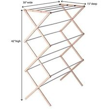 Collapsible Folding Drying Rack Wooden Laundry Drying Rack Clothes Drying Stand