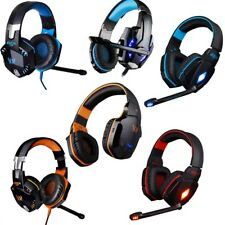 Pro Gaming Headset Surround 3.5mm USB Stereo Headphones w Mic PC Tablet Computer