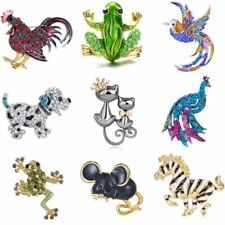Fashion Crystal Cat Dog Animals Brooch Pin Women Jewelry Mother's Day Gift Hot