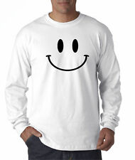 New Way 849 - Long-Sleeve T-Shirt Smiley Face Emoticon Emoji Happy Smile