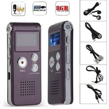 8GB Digital MP3 Player Audio Voice Recorder Rechargeable Dictaphone Telephone GA