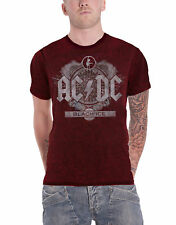 AC/DC T Shirt Black Ice Album Cover Band Logo Official Mens Red 2tone Burnout
