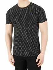 Scotch & Soda Men's Classic Patten T-Shirt, Black