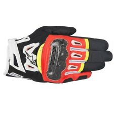 Alpinestars SMX-2 Air Carbon V2 Mens Black Red White Yellow Motorcycle Gloves