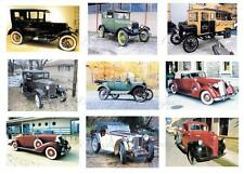 18 Vintage Car Images Embellishments, Card Making Toppers, Card Toppers