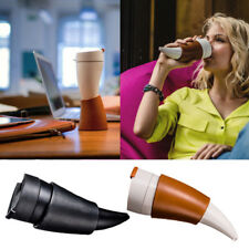 Goat Horns Shaped Mug Coffee Insulation Vacuum Thermos Cup Water Bottle