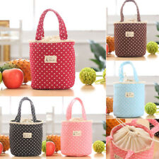 1pc Thermal Insulated Lunch Box Cooler Bag Tote Bento Pouch Cotton Container