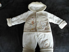 "New Baby Boys Cute Padded ""Bear"" Hooded Jacket and Trouser Winter,Snow Outfit"