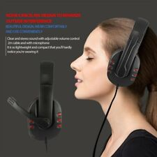 Comfortable USB Wired Stereo Micphone Headphone Mic Headset For PC Game AU