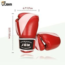 Training Boxing Gloves Kickboxing Punching Gloves MMA TKD Sparring Gear Red NEW