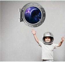 Exploding Planets Porthole Window Wall Decal Vinyl Sticker Kids Space Room Decor