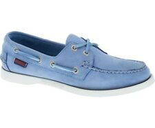 Sebago Docksides Nubuck Women's Deck Shoe Light Blue nubuck B500213 NEW