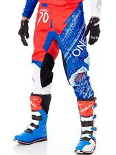 Oneal Red-White-Blue 2018 Element Burnout MX Pant