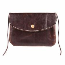 Handmade Pu Leather Cell Phone Pocket Flap Shape Cross Body Bag For Women